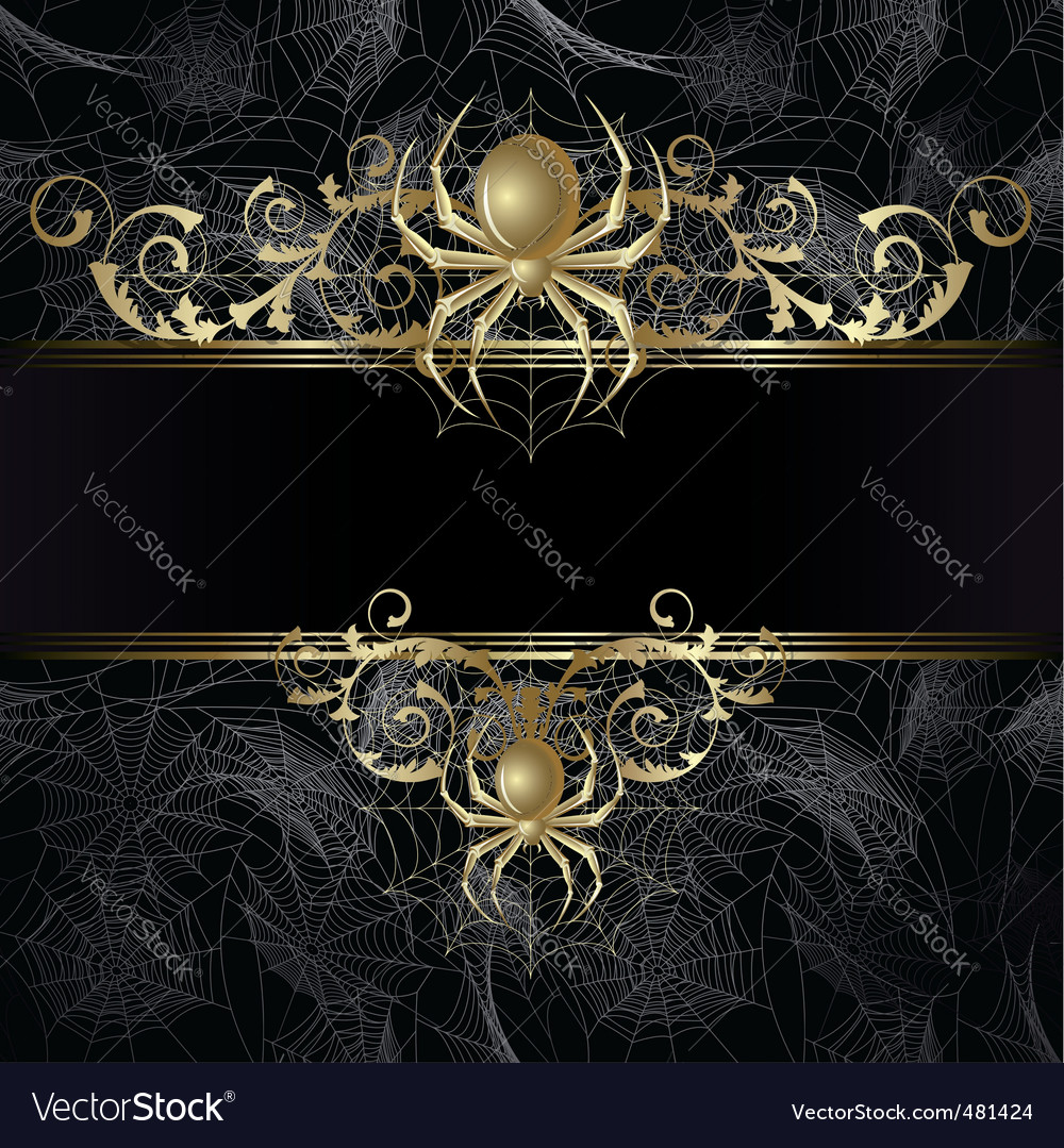 Frame with spider vector | Price: 1 Credit (USD $1)