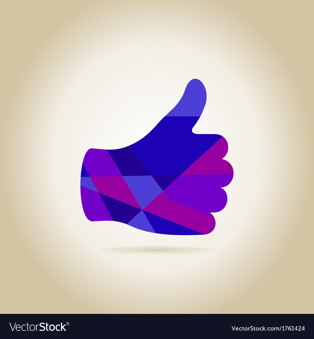 Hand like3 vector | Price: 1 Credit (USD $1)