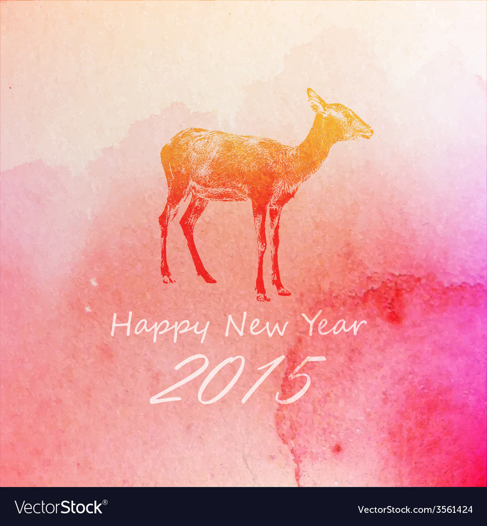 Holiday of a goat on the watercolor texture vector   Price: 1 Credit (USD $1)