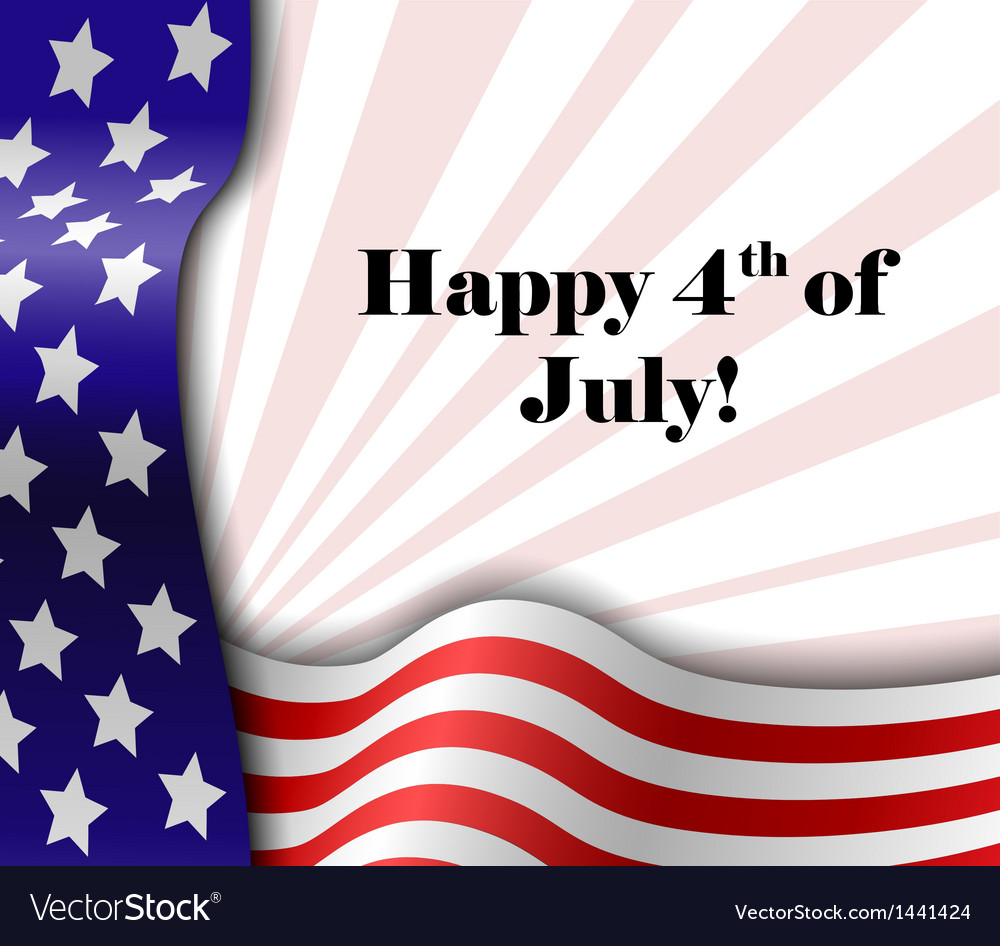 July 4 patriotic text frame vector | Price: 1 Credit (USD $1)