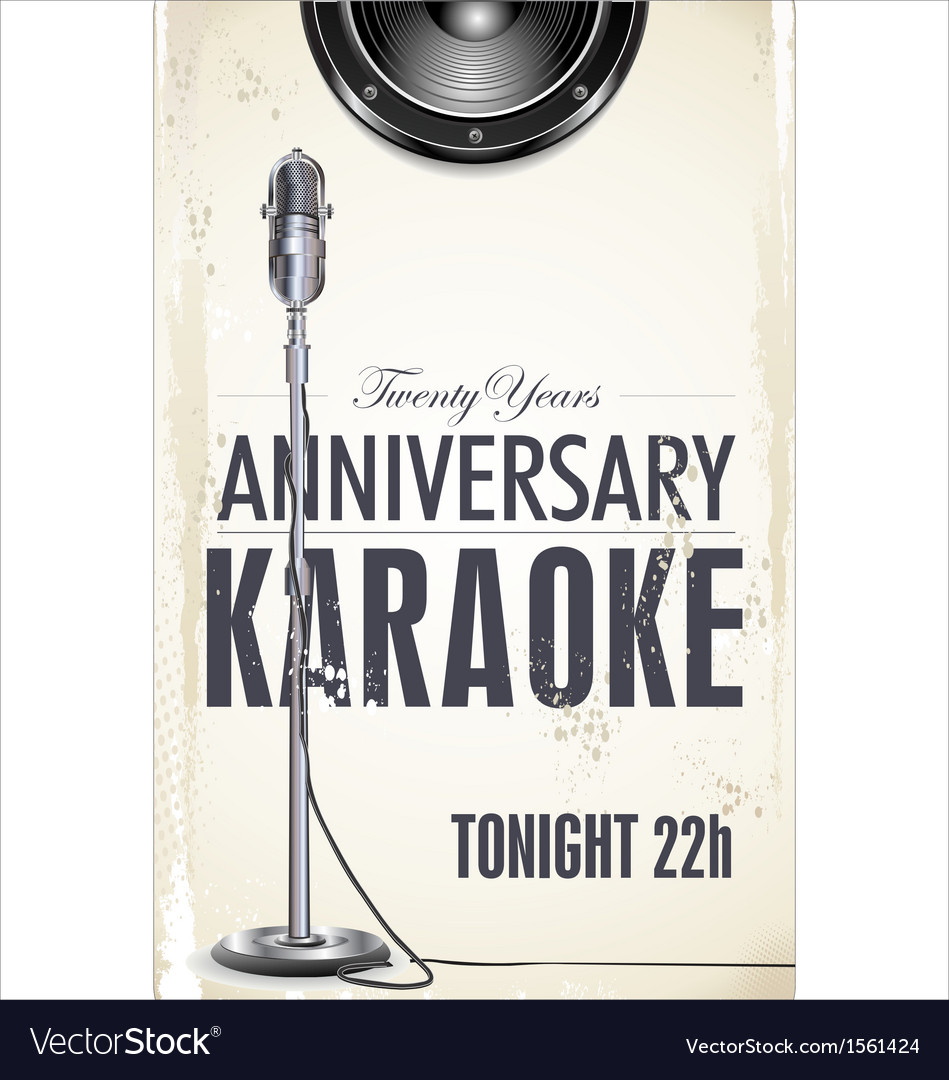 Karaoke party poster vector | Price: 1 Credit (USD $1)