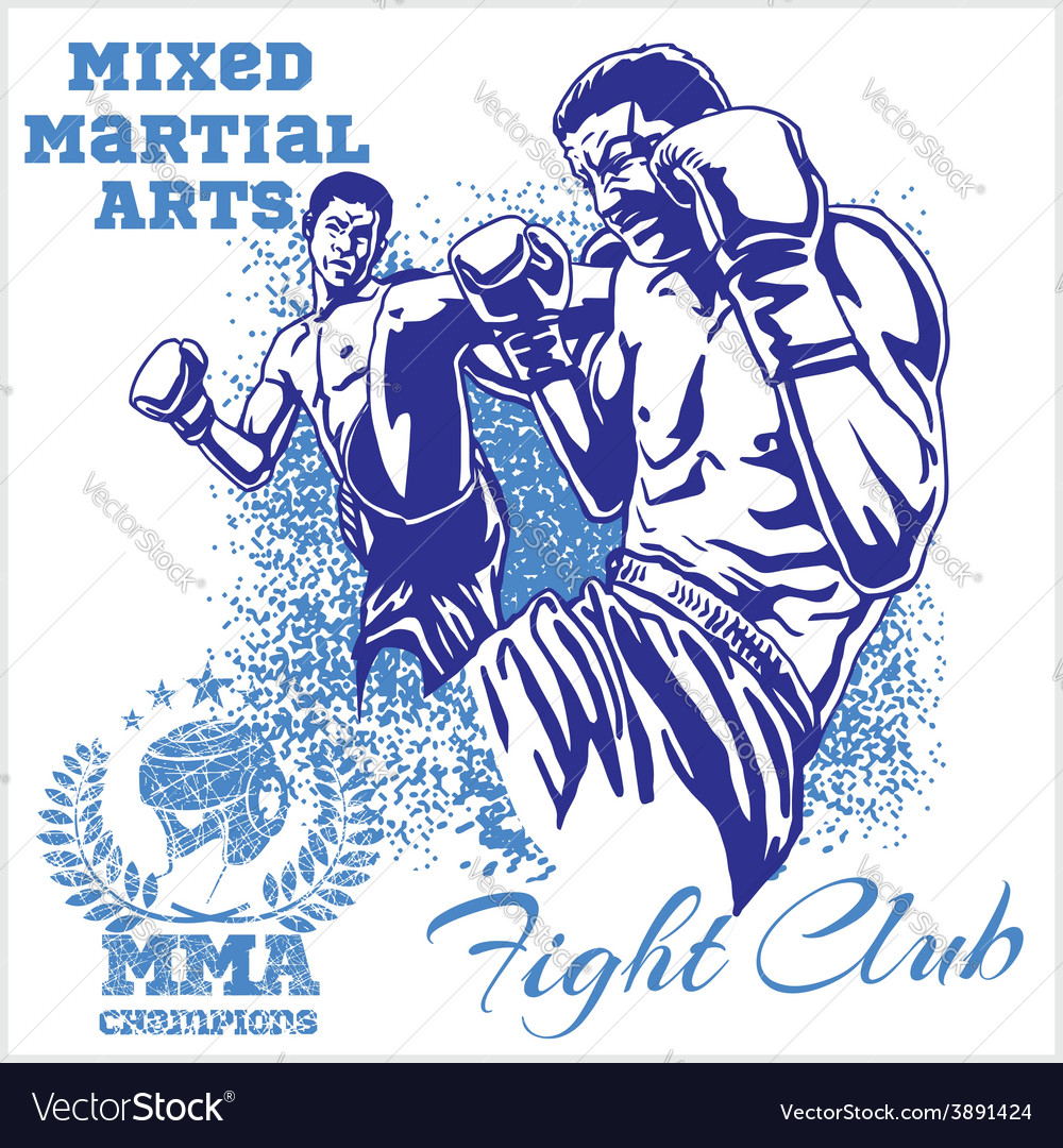 Match two fighters of martial mixed arts vector | Price: 3 Credit (USD $3)