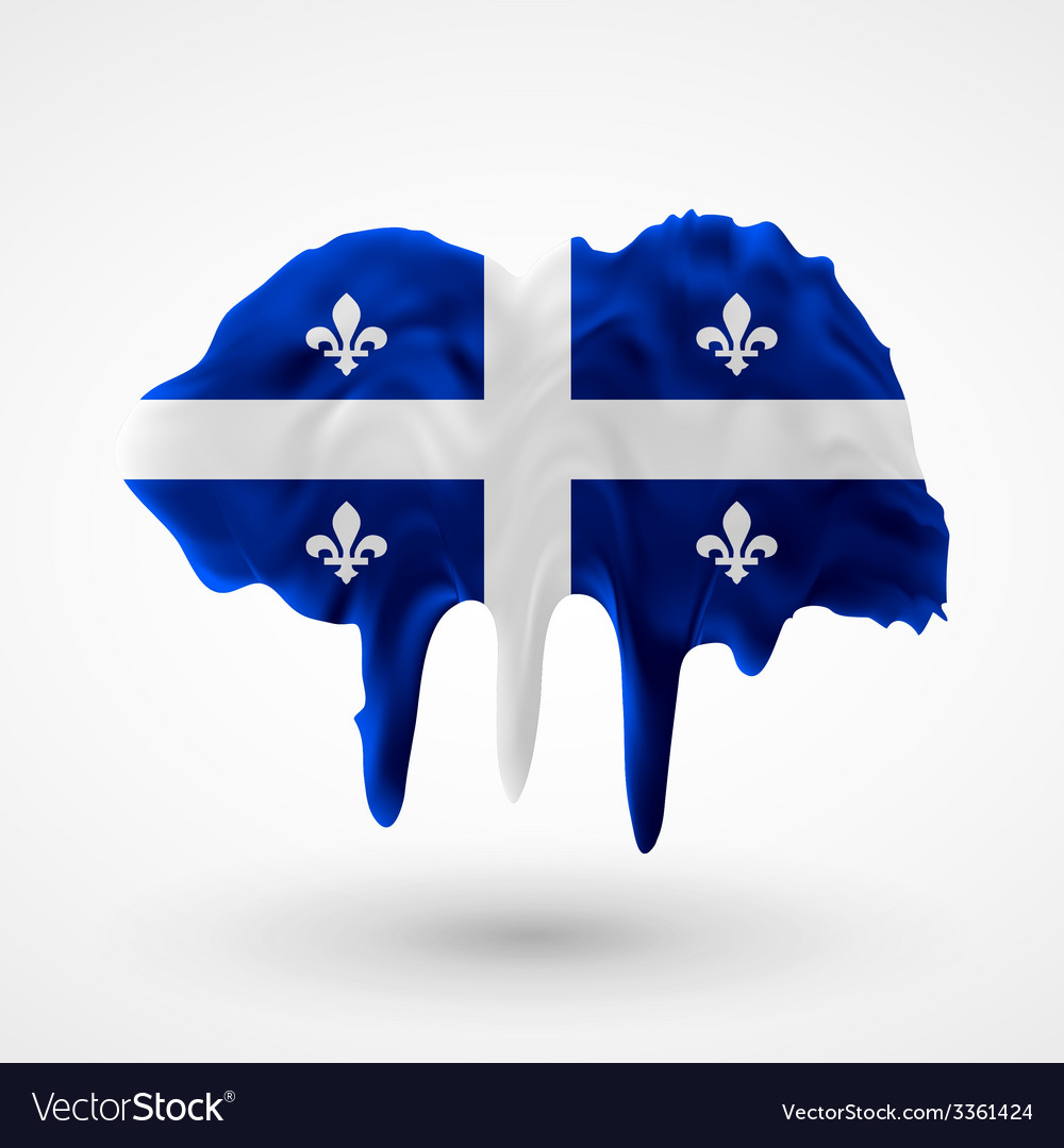 Quebec flag painted colors vector | Price: 3 Credit (USD $3)