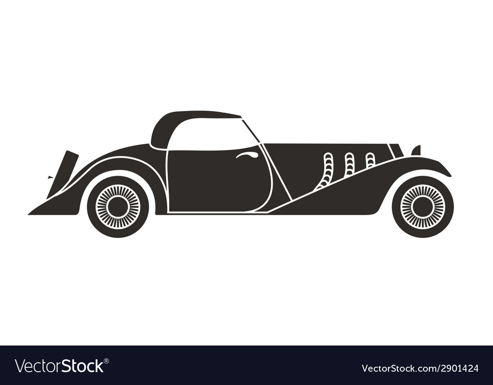 Retro cabriolet sport car vintage collection vector | Price: 1 Credit (USD $1)
