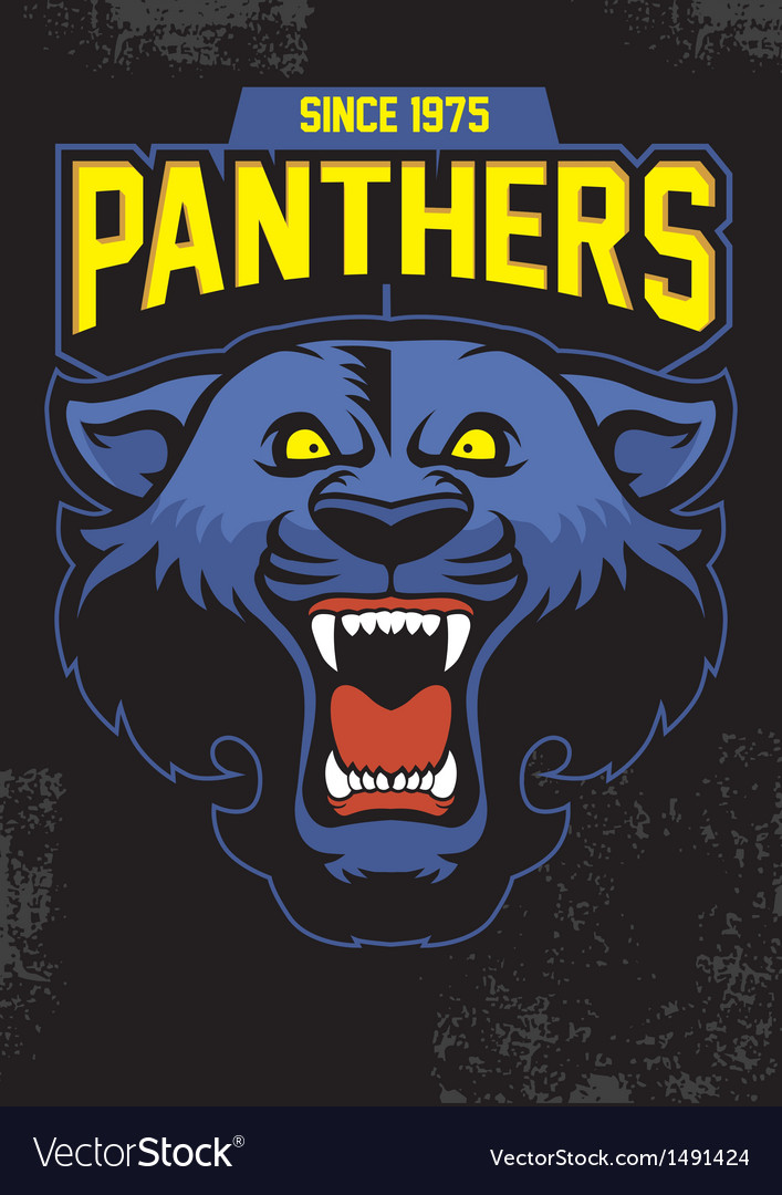 Retro panther mascot design vector | Price: 1 Credit (USD $1)