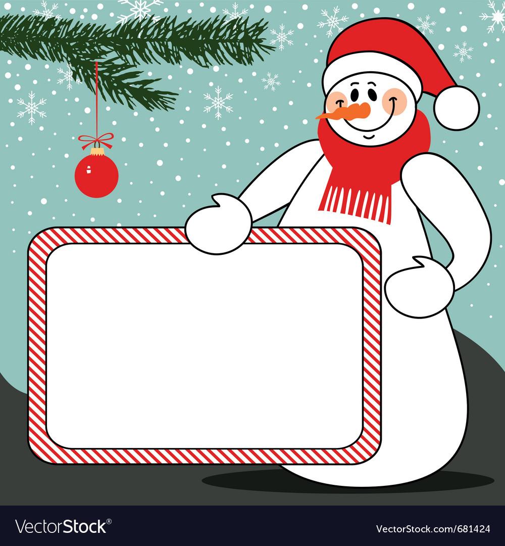 Snowman billboard vector   Price: 1 Credit (USD $1)