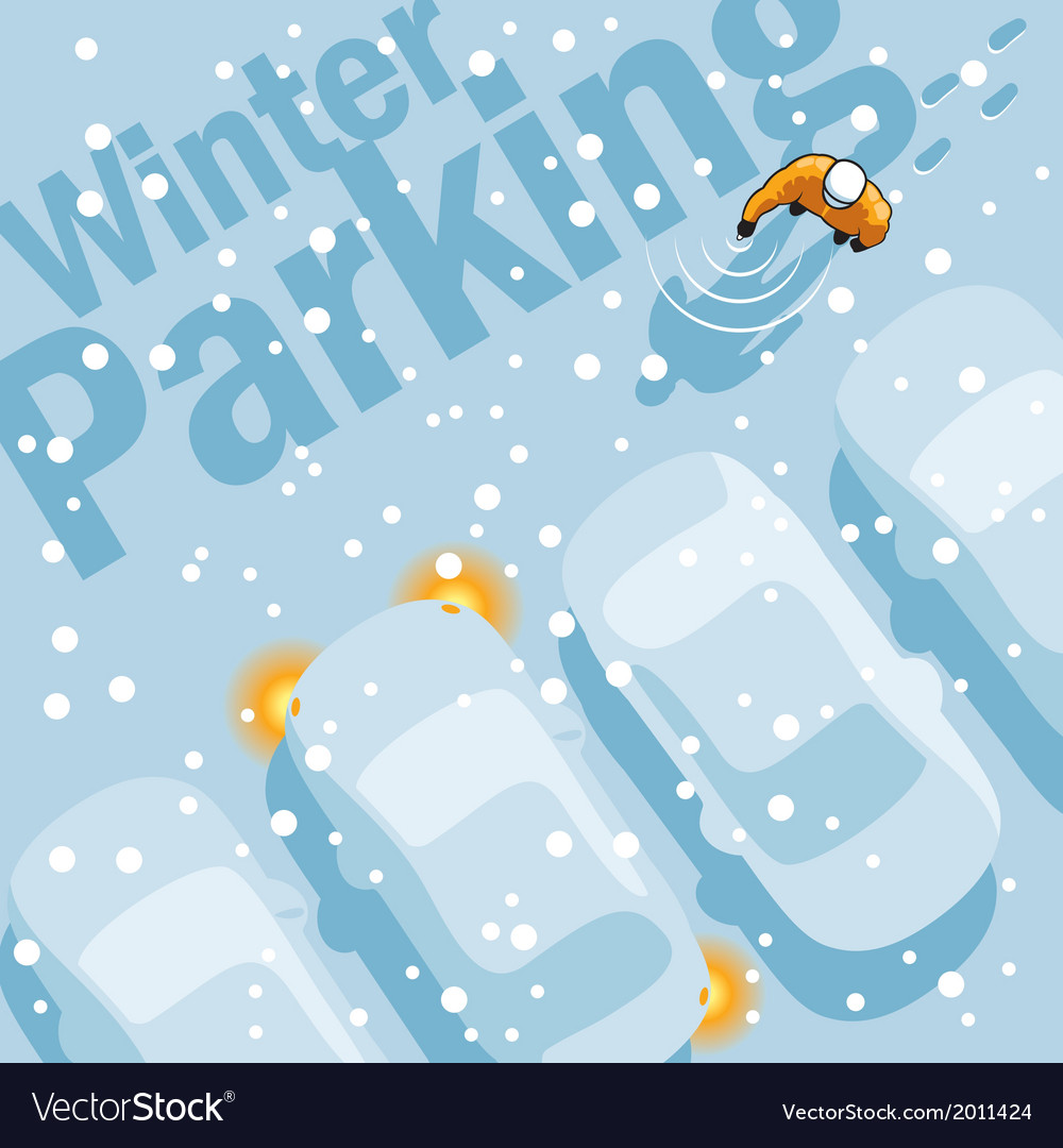 Winter parking vector | Price: 1 Credit (USD $1)