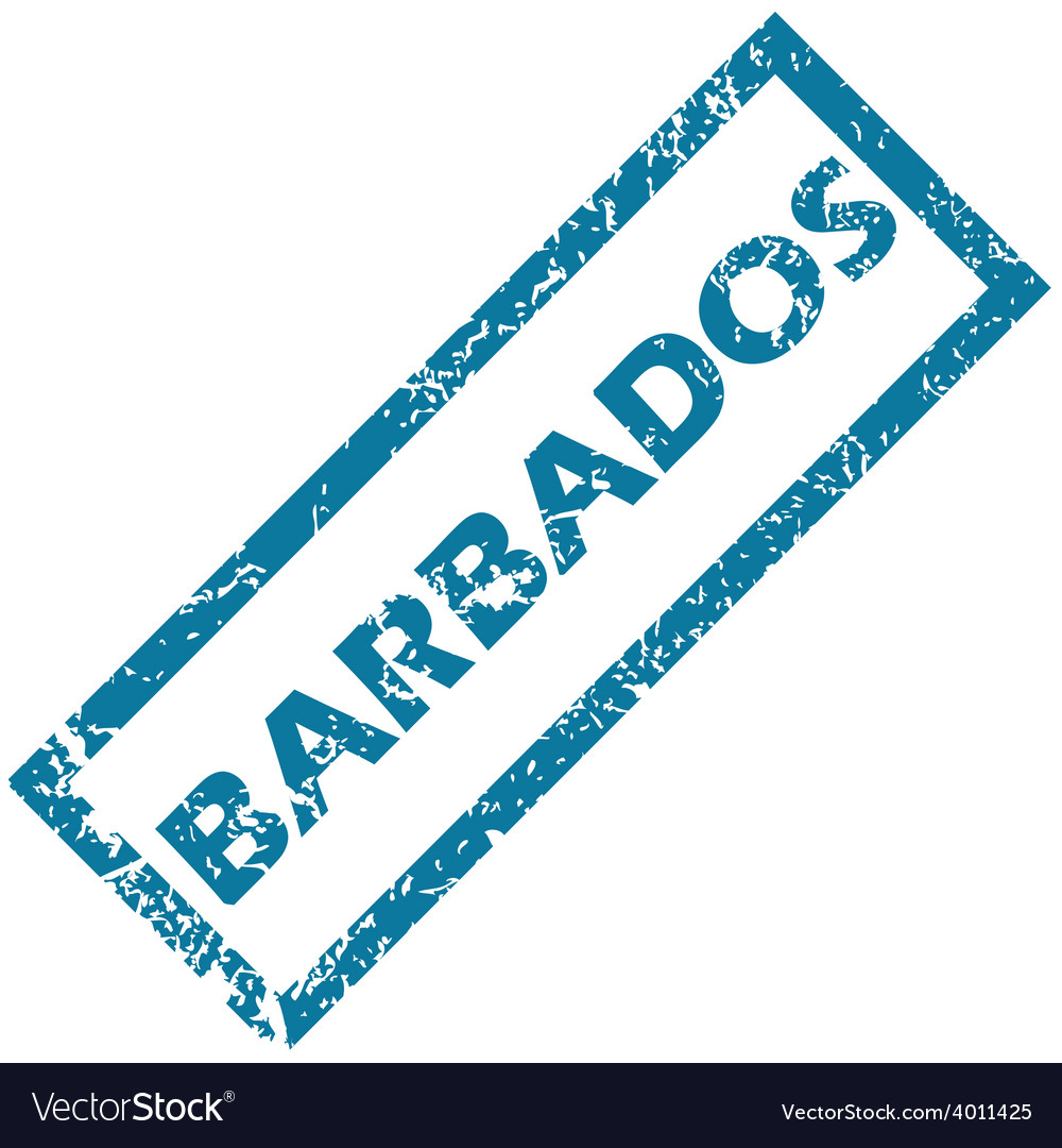 Barbados rubber stamp vector | Price: 1 Credit (USD $1)