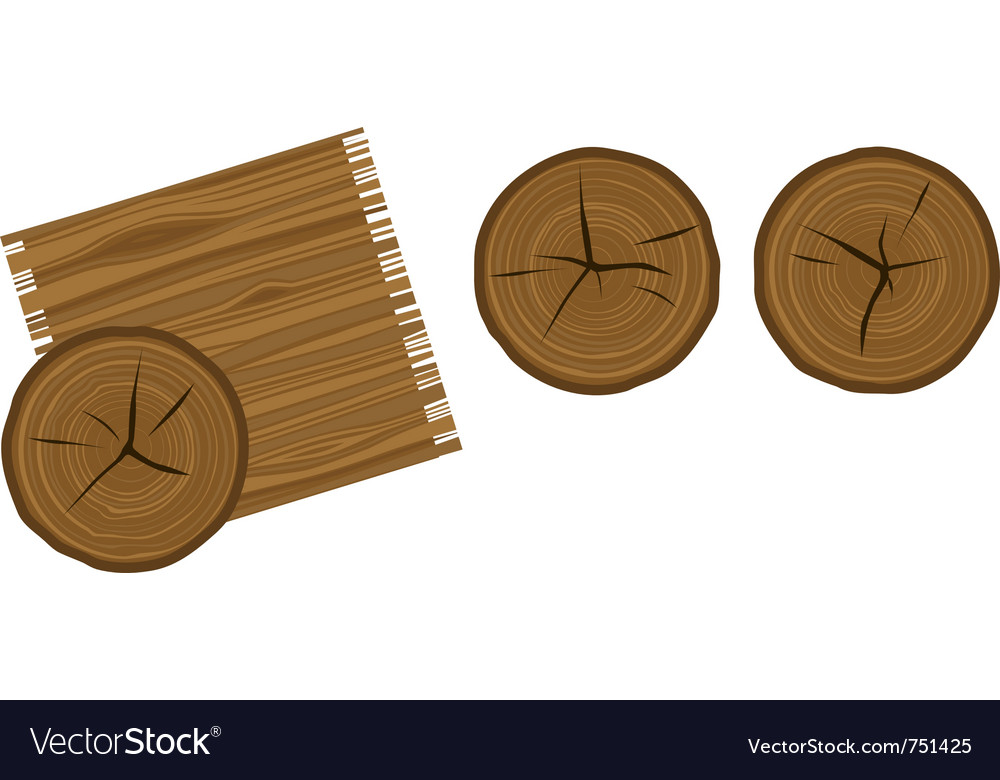 Cartoon woodgrain and wood rings vector | Price: 1 Credit (USD $1)