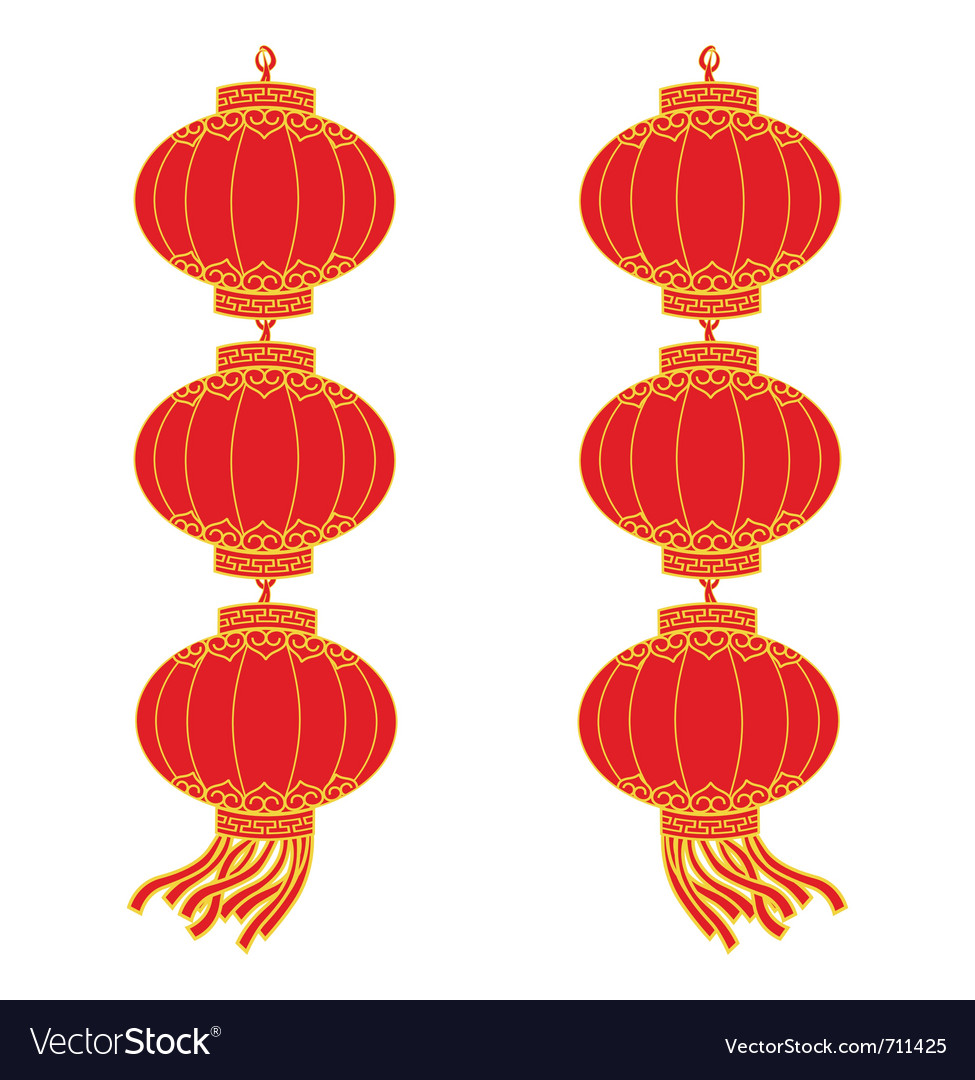 Chinese lantern garland vector | Price: 1 Credit (USD $1)