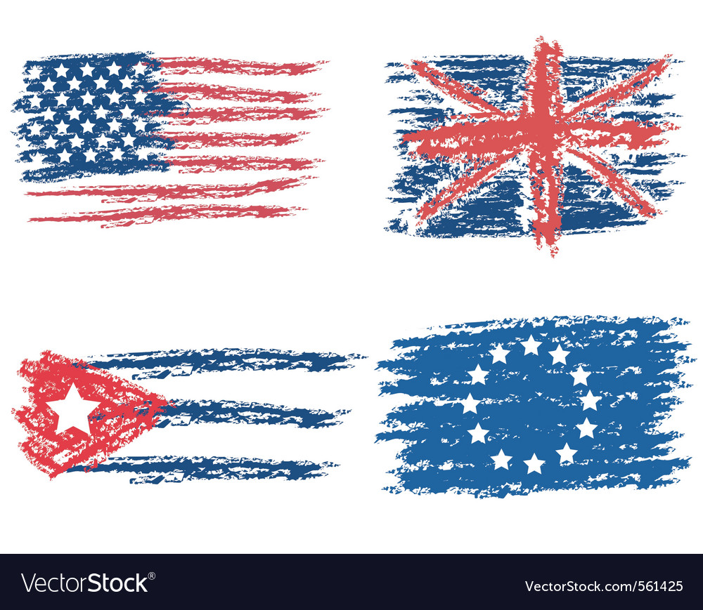 Flags drawn vector | Price: 1 Credit (USD $1)