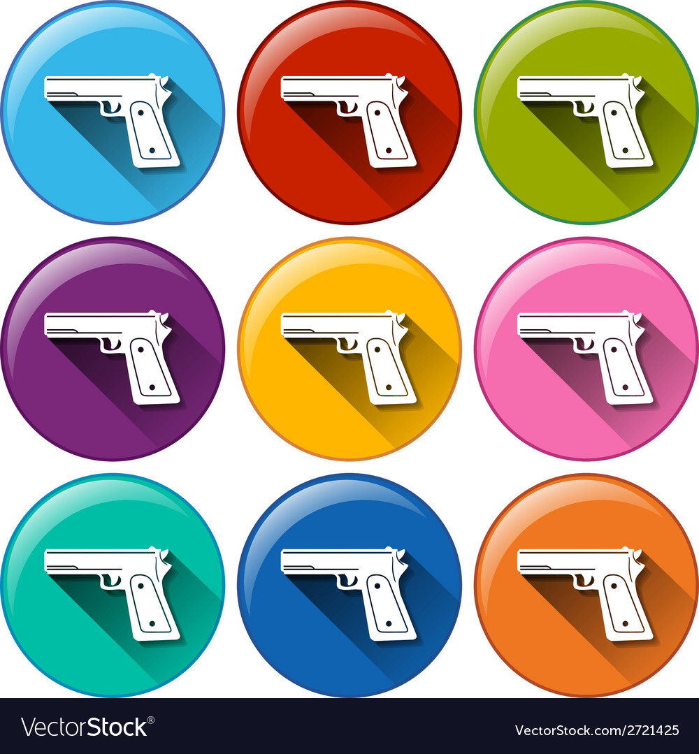 Gun icons vector | Price: 1 Credit (USD $1)