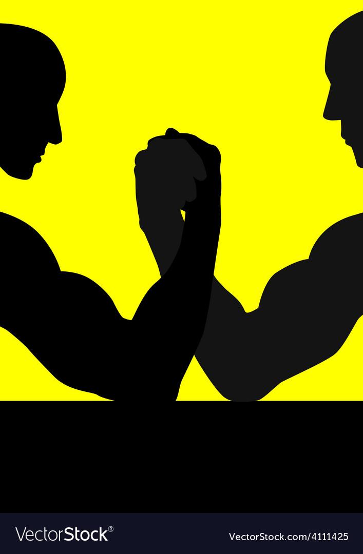 Hand wrestling vector | Price: 1 Credit (USD $1)