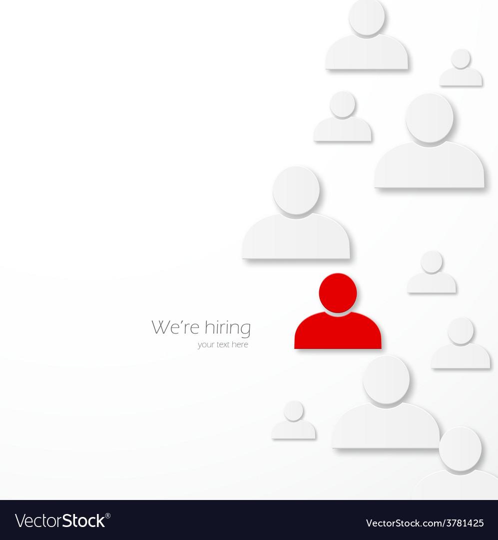Hiring vector | Price: 1 Credit (USD $1)