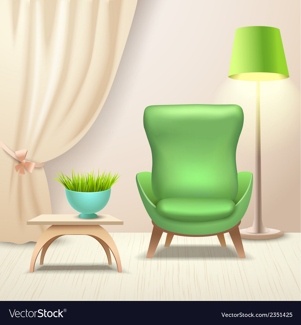 Interior design armchair vector | Price: 1 Credit (USD $1)