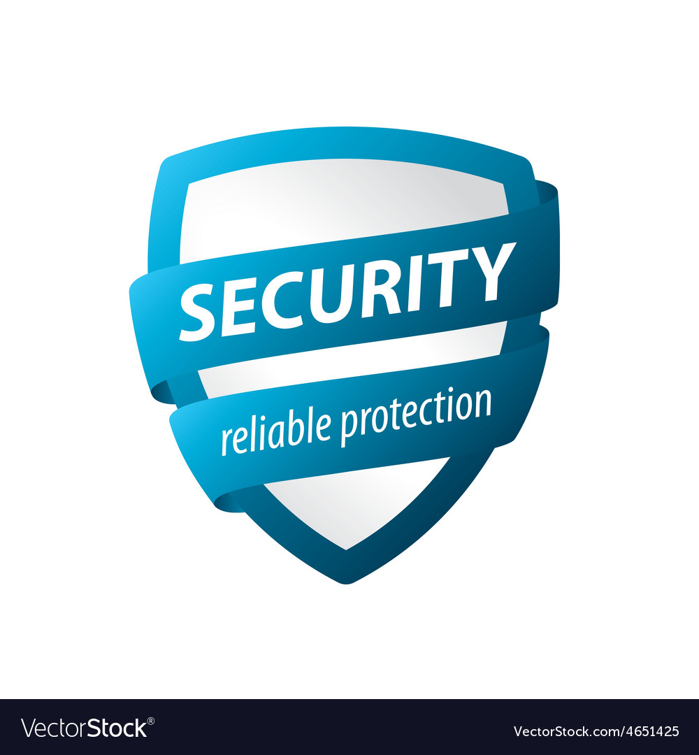 Logo blue shield for protection vector | Price: 1 Credit (USD $1)