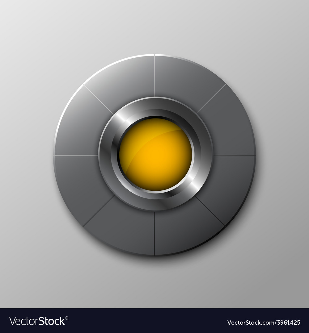 Metallic circle button vector | Price: 1 Credit (USD $1)