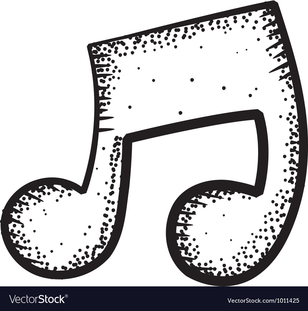 Music note doodle vector   Price: 1 Credit (USD $1)