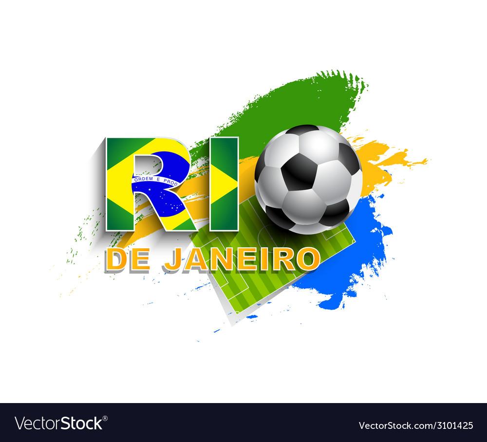 Rio de janeiro football concept vector | Price: 1 Credit (USD $1)