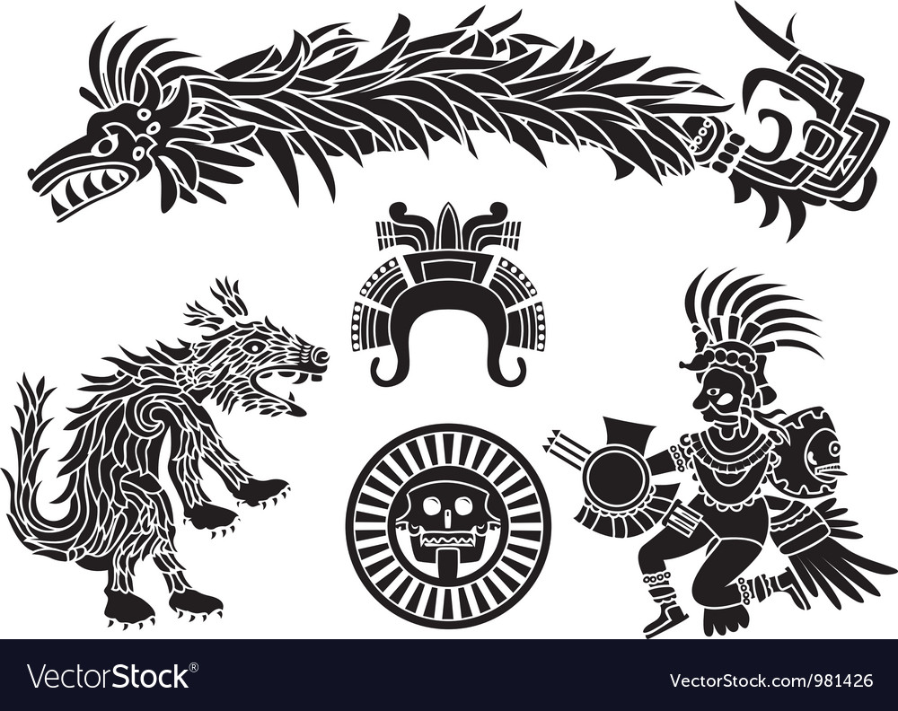 Aztec set vector | Price: 1 Credit (USD $1)