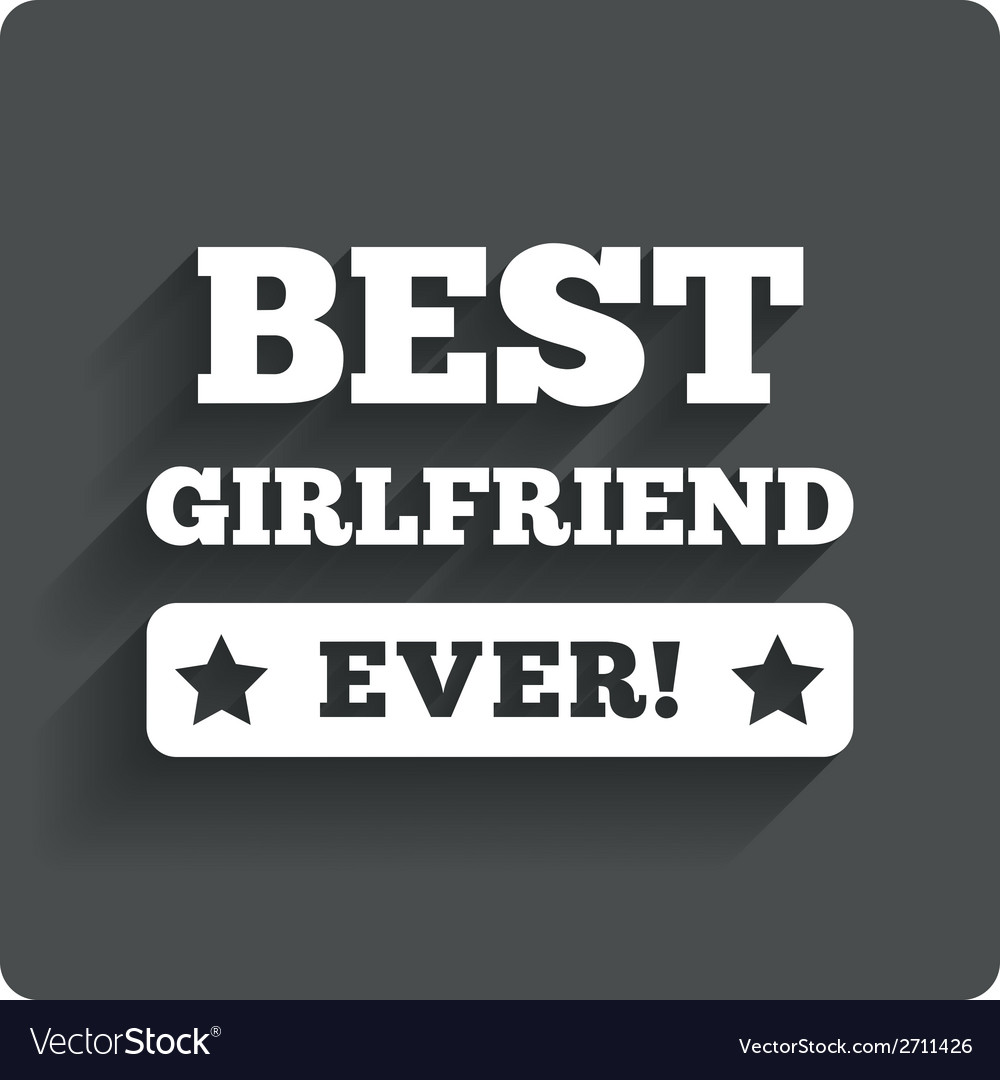 Best girlfriend ever sign icon award symbol vector | Price: 1 Credit (USD $1)