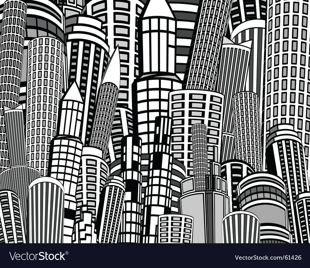 City towers vector