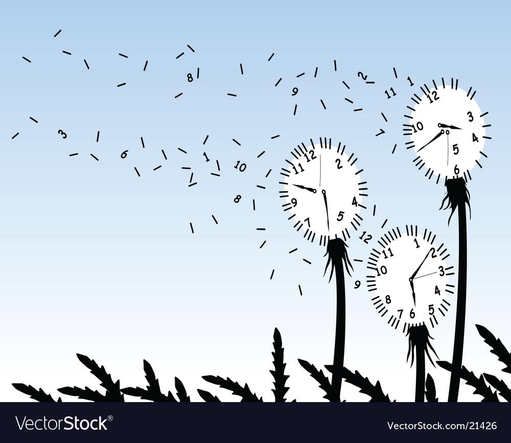 Dandelion clocks vector | Price: 1 Credit (USD $1)