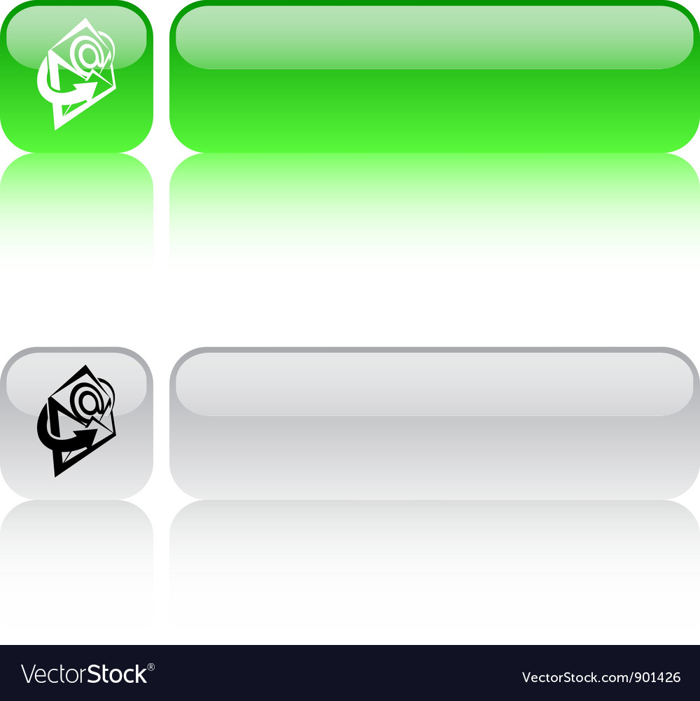 E-mail square button vector | Price: 1 Credit (USD $1)