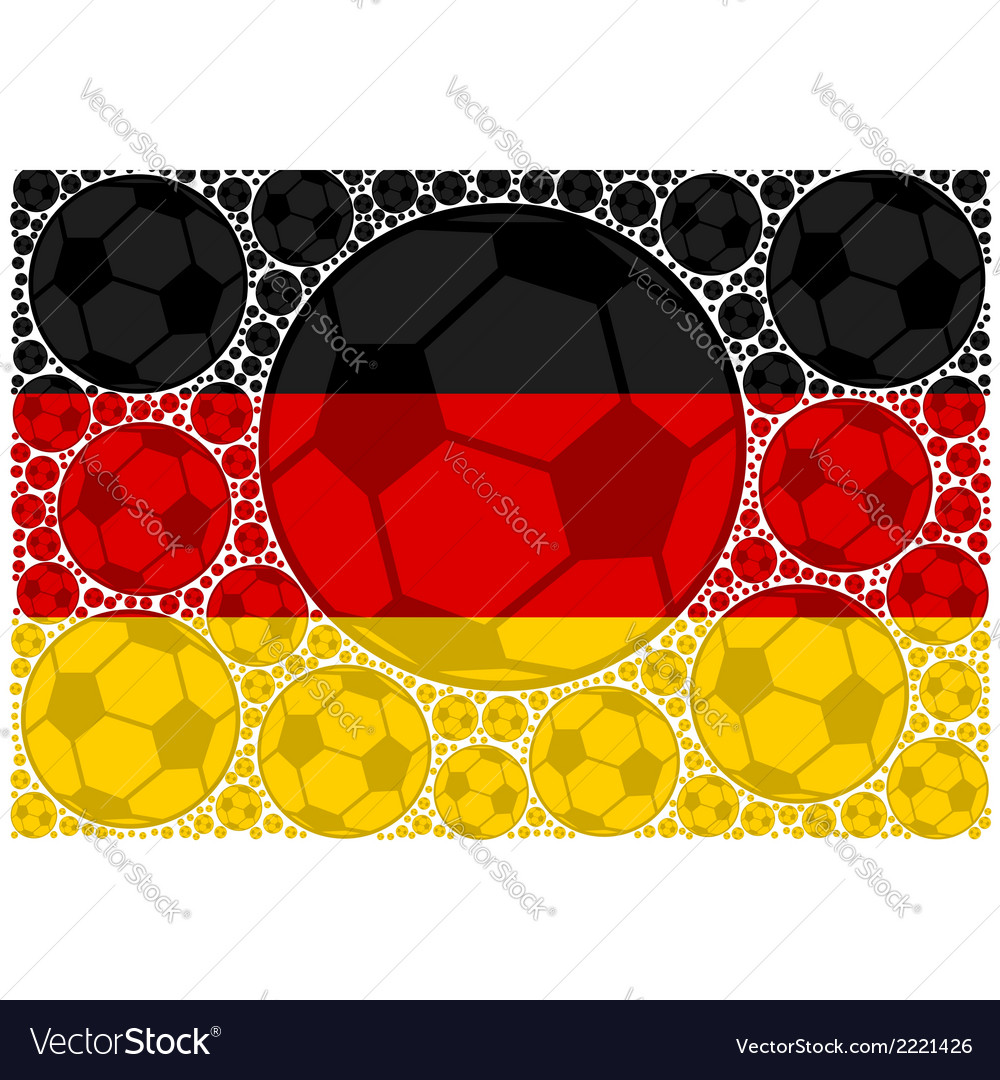 Germany soccer balls vector | Price: 1 Credit (USD $1)