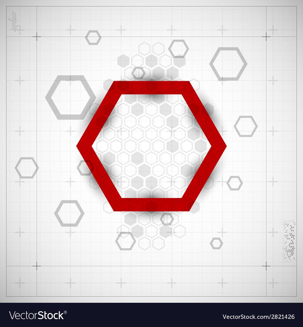 Modern hexagon background vector | Price: 1 Credit (USD $1)