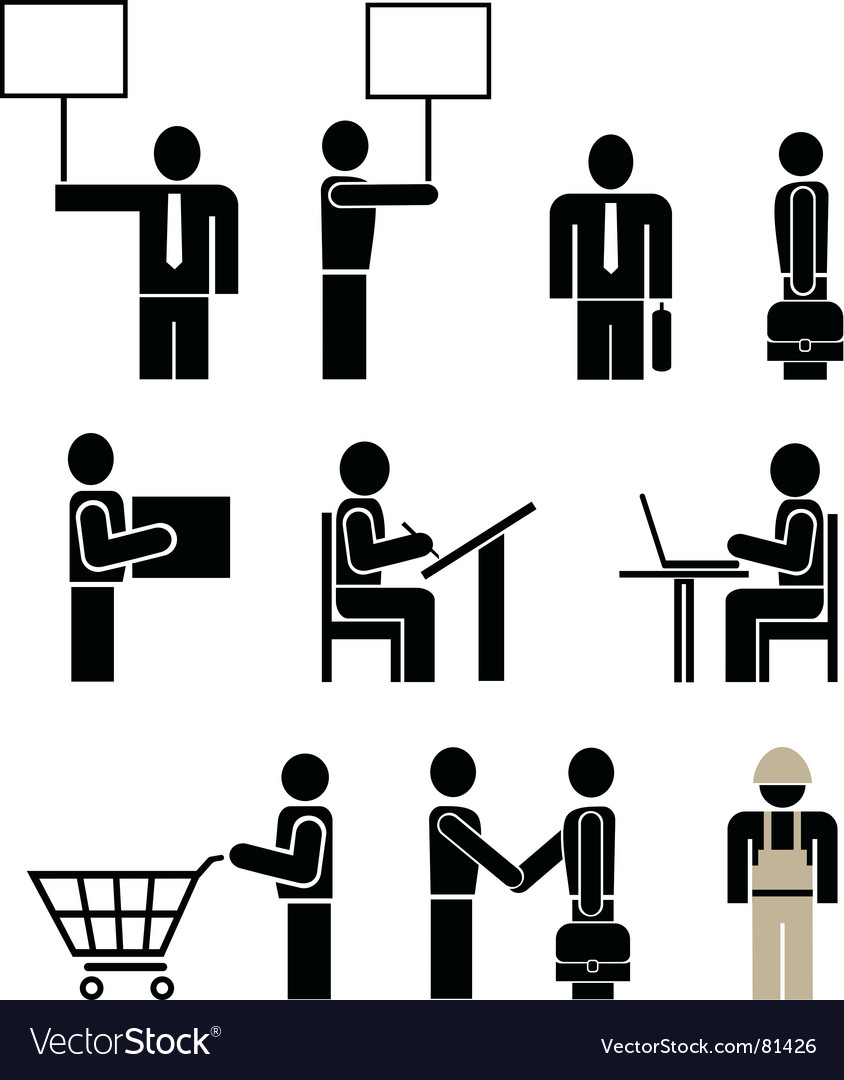 People pictogram vector | Price: 1 Credit (USD $1)