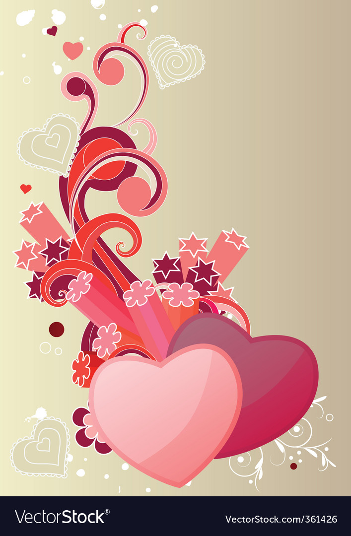 Two hearts vector | Price: 1 Credit (USD $1)