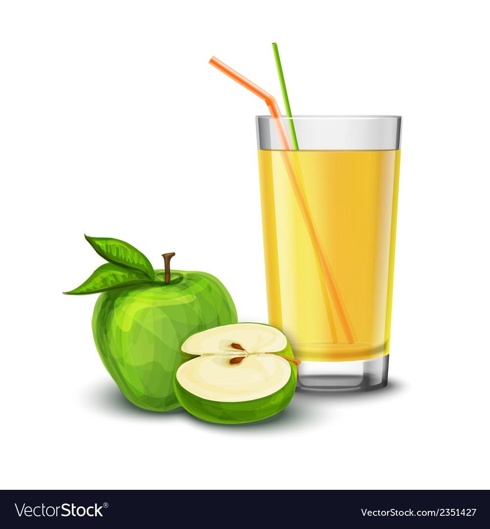 Apple juice glass vector | Price: 1 Credit (USD $1)