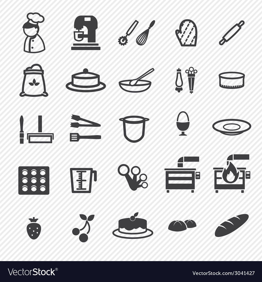 Bakery icons set vector | Price: 1 Credit (USD $1)