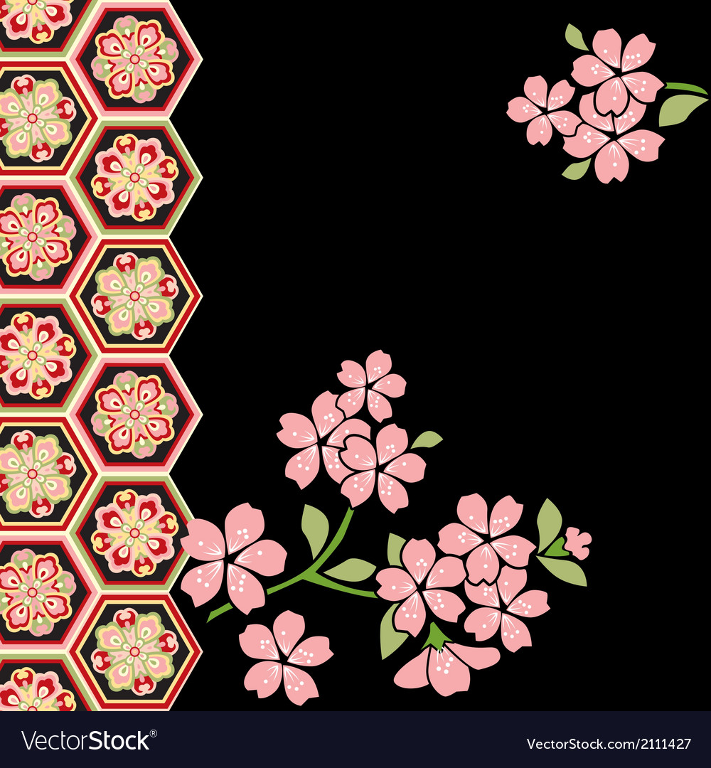 Cherry blossom festival vector | Price: 1 Credit (USD $1)