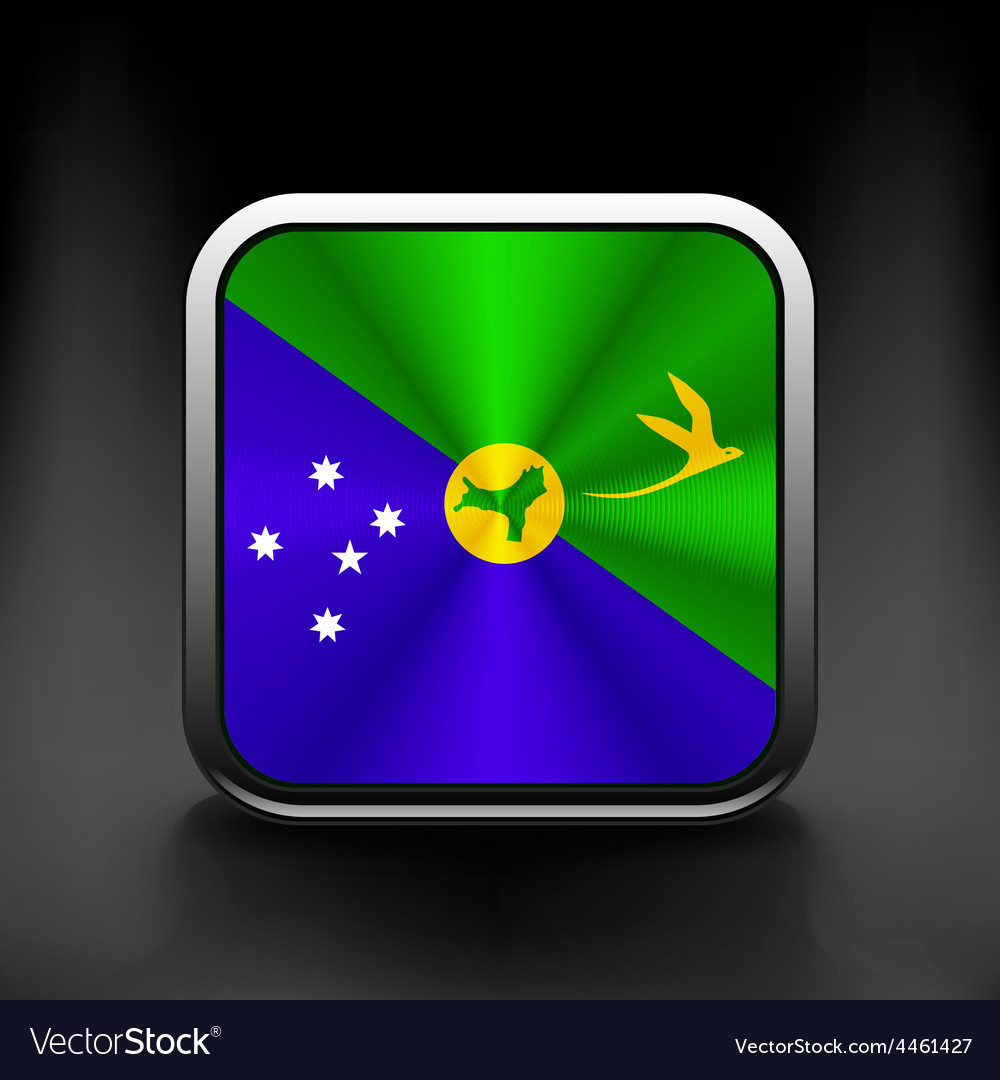 Christmas islands flag national travel icon vector | Price: 1 Credit (USD $1)