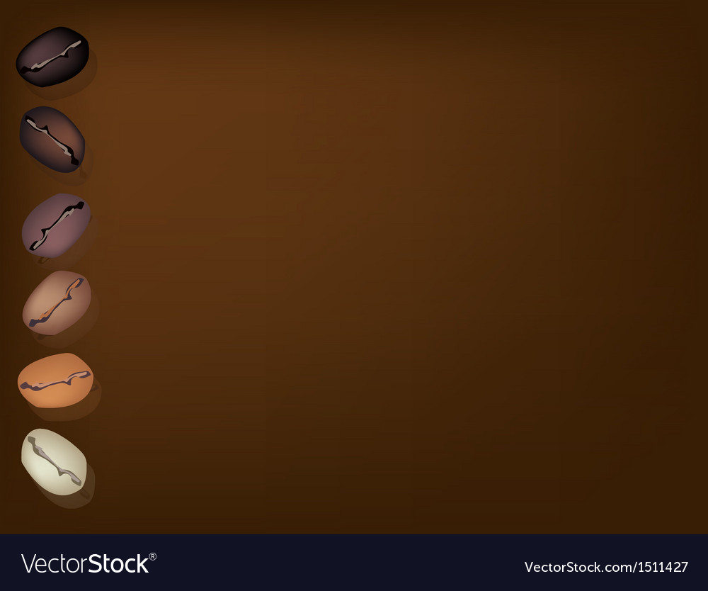 Coffee beans row background vector | Price: 1 Credit (USD $1)