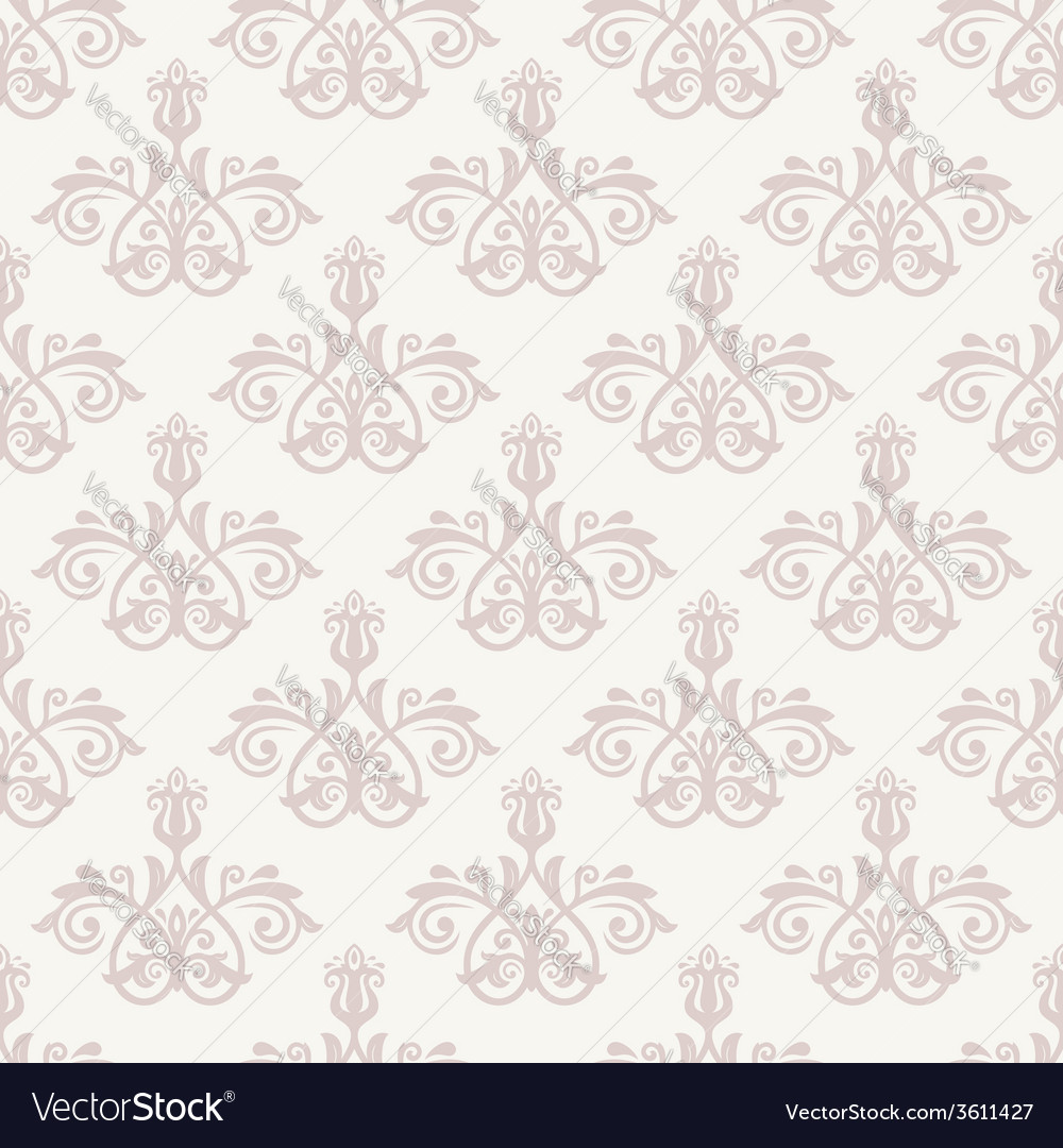 Damask seamless pattern pink orient background vector | Price: 1 Credit (USD $1)