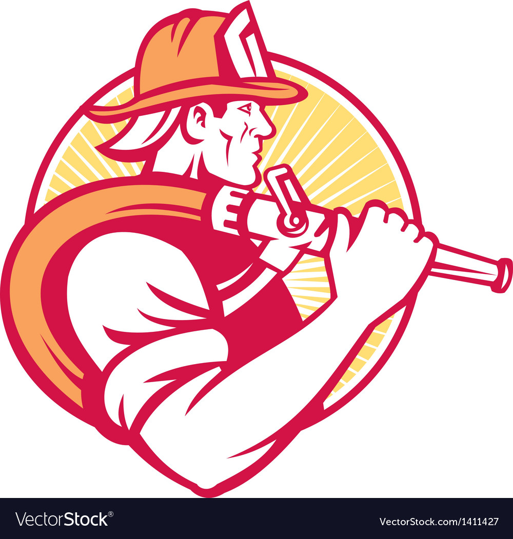 Fireman firefighter emergency worker vector | Price: 1 Credit (USD $1)