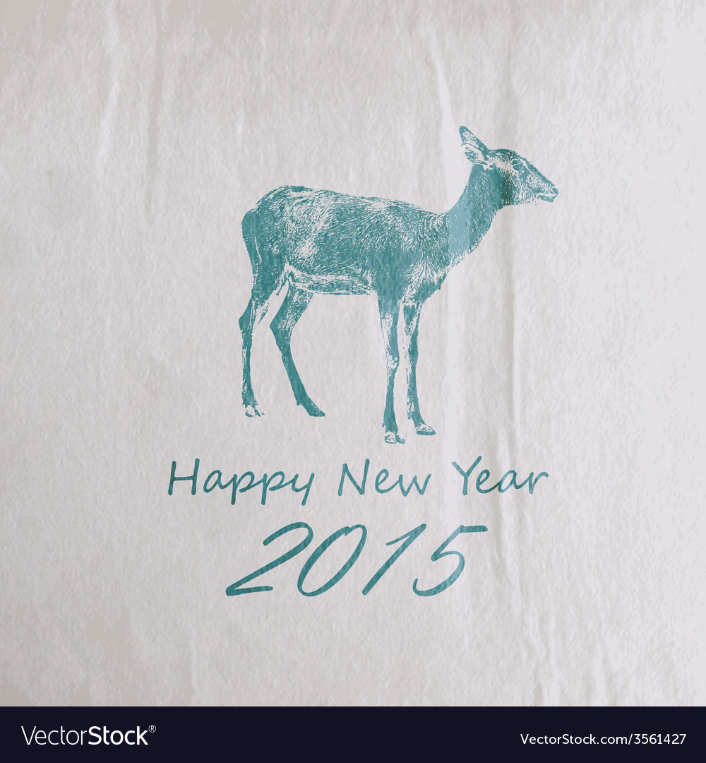 Holiday of a goat on the old vintage wrinkle vector | Price: 1 Credit (USD $1)