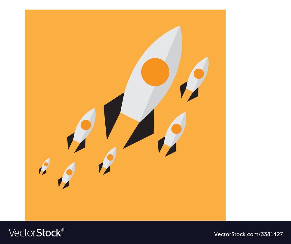 Rockets background vector | Price: 1 Credit (USD $1)
