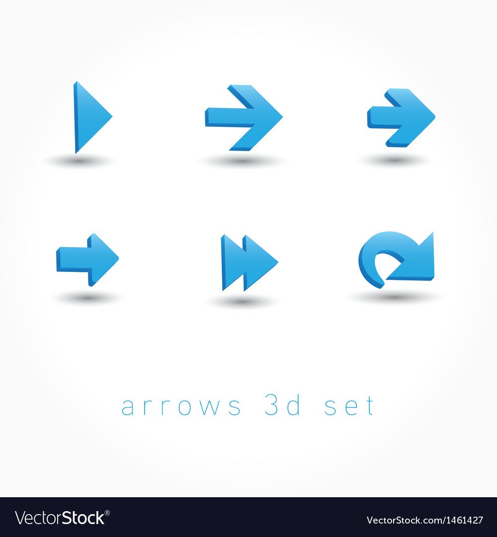 Set of icons pointer arrows 3d vector | Price: 1 Credit (USD $1)