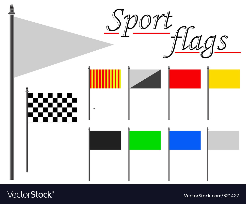 Sport flags against white vector | Price: 1 Credit (USD $1)