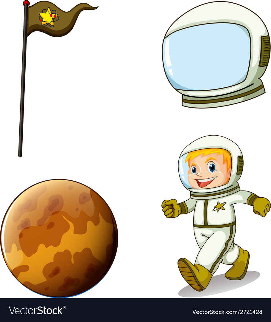 A smiling astronaut vector | Price: 1 Credit (USD $1)