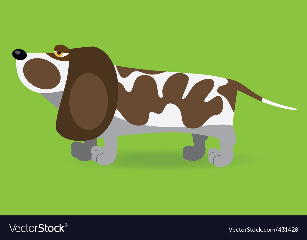Basset hound vector | Price: 1 Credit (USD $1)