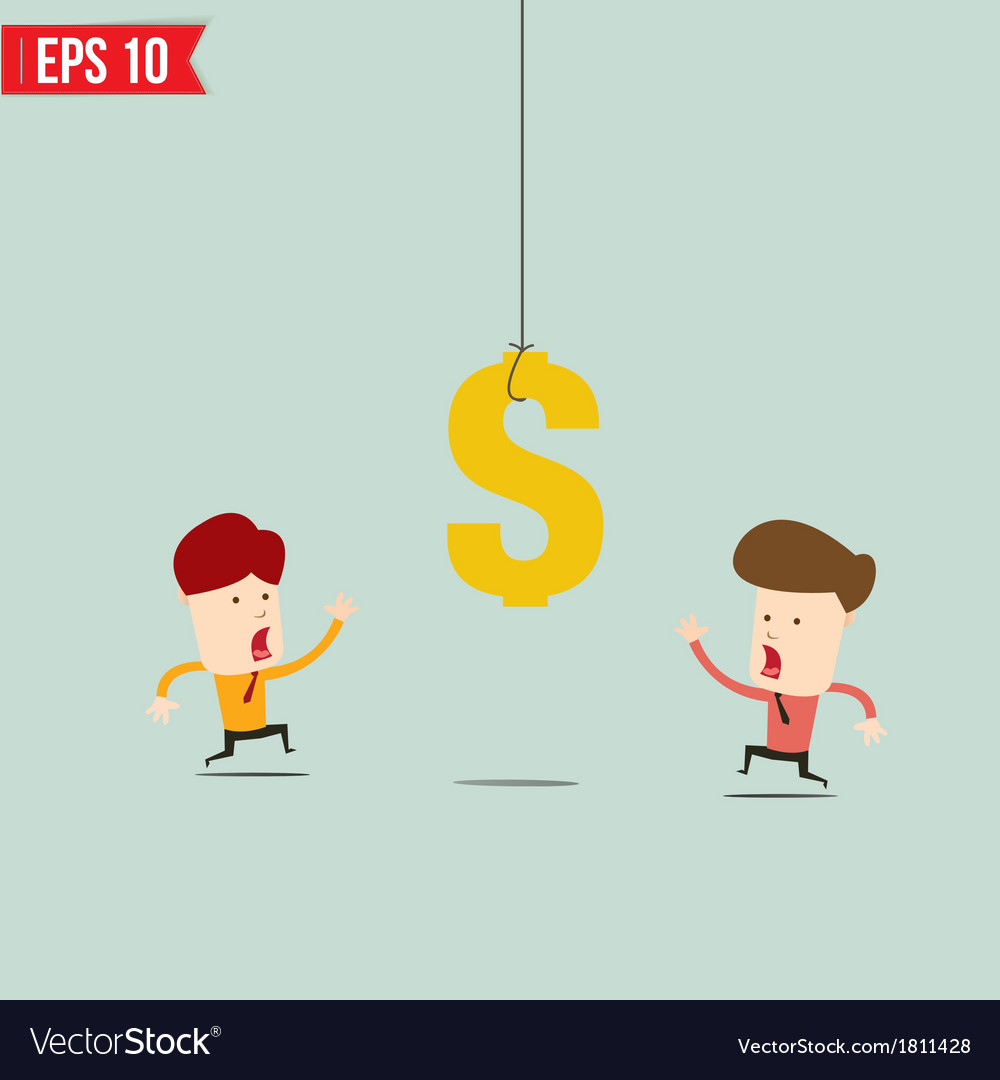 Businessman try to reach money- - eps10 vector | Price: 1 Credit (USD $1)