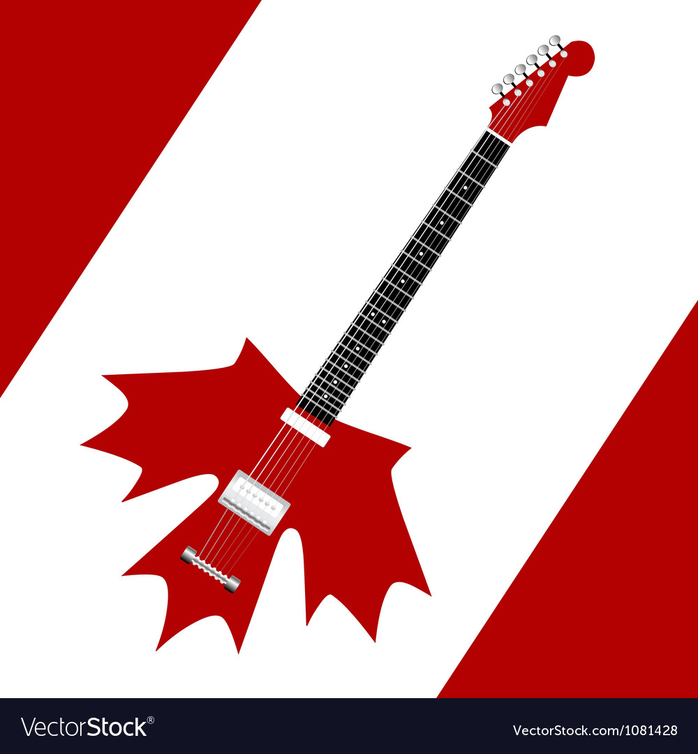 Canadian rock guitar vector | Price: 1 Credit (USD $1)