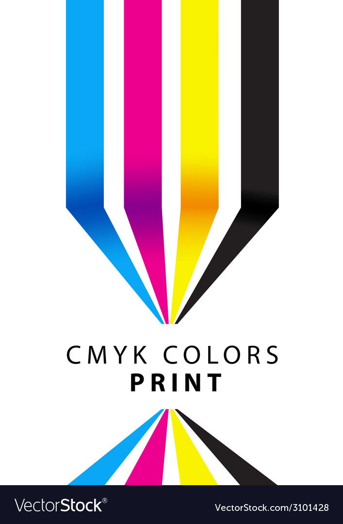Cmyk colors print presentation vector | Price: 1 Credit (USD $1)