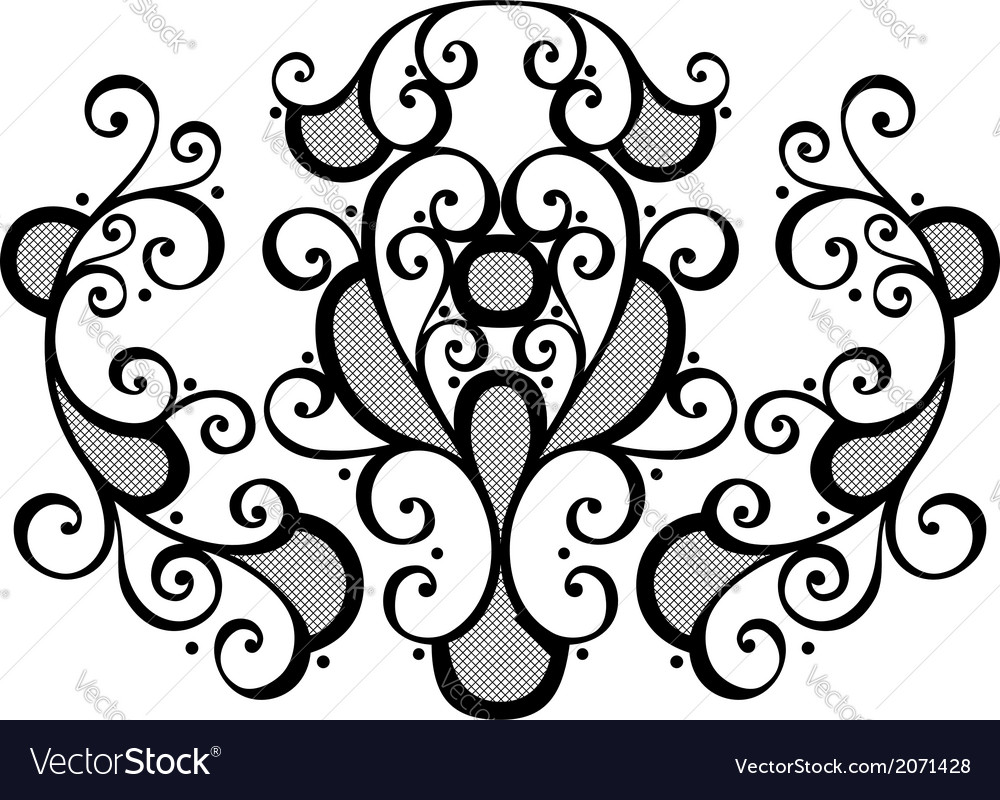 Deco abstract symmetric element vector | Price: 1 Credit (USD $1)