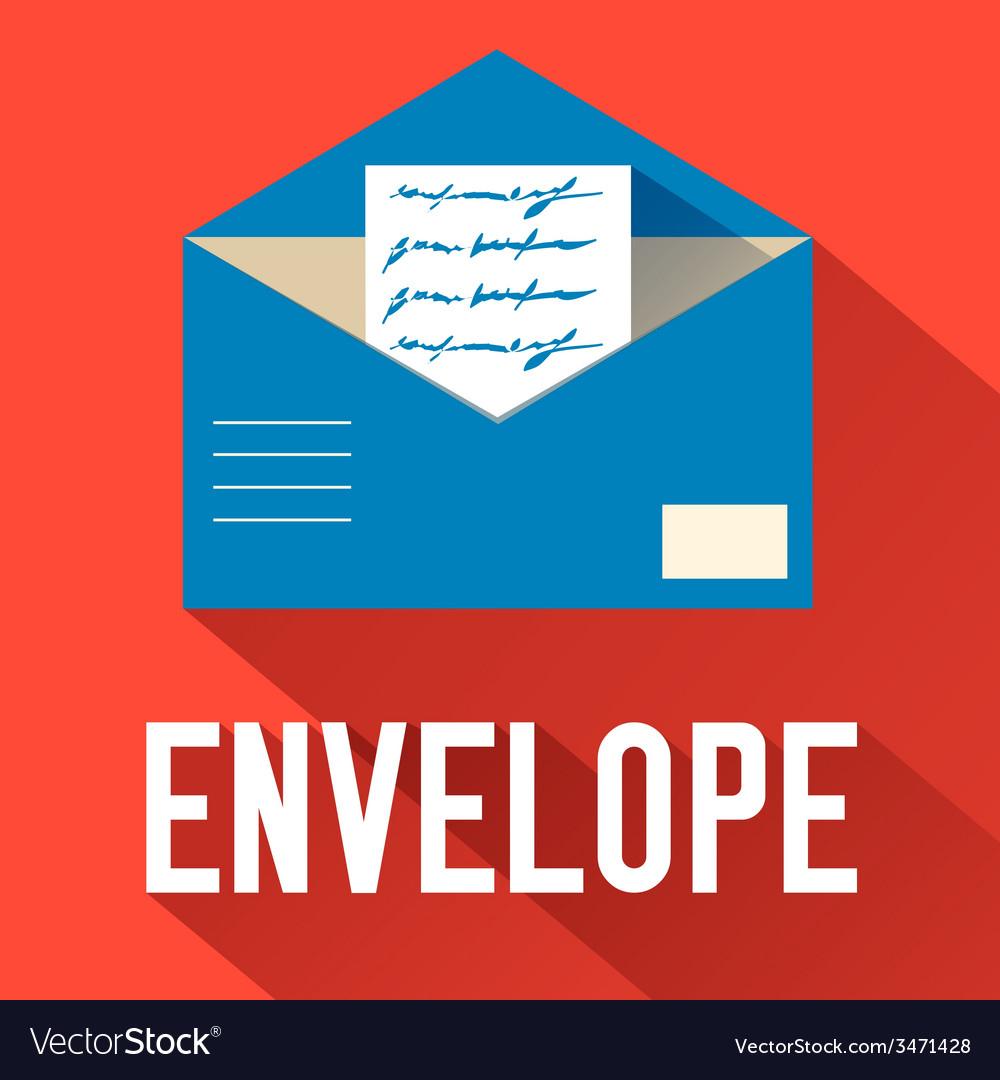 Flat open envelope design concept vector | Price: 1 Credit (USD $1)
